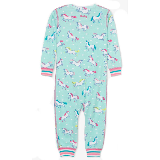 Hatley Baby Girl Prancing Unicorn Organic Cotton Coverall Back