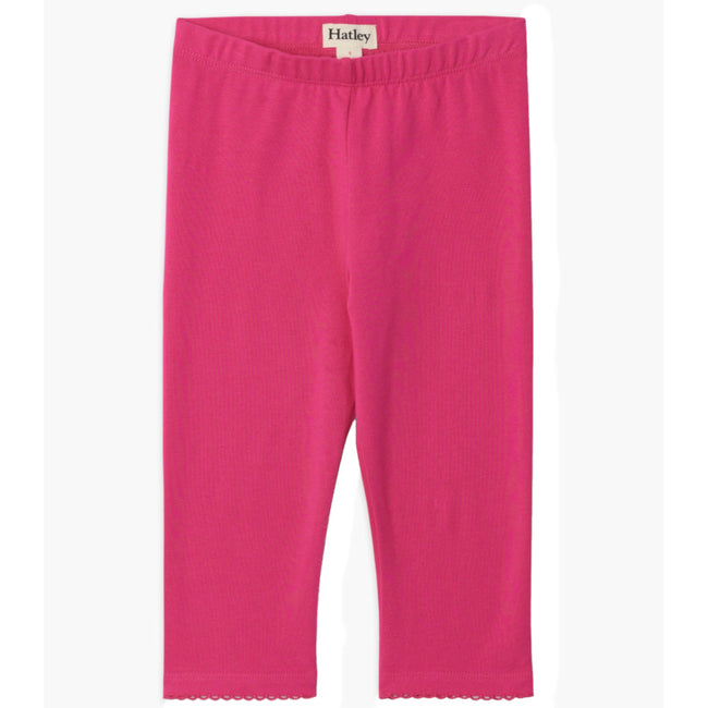 HATLEY Little Girl Fuchsia Capri Leggings Front