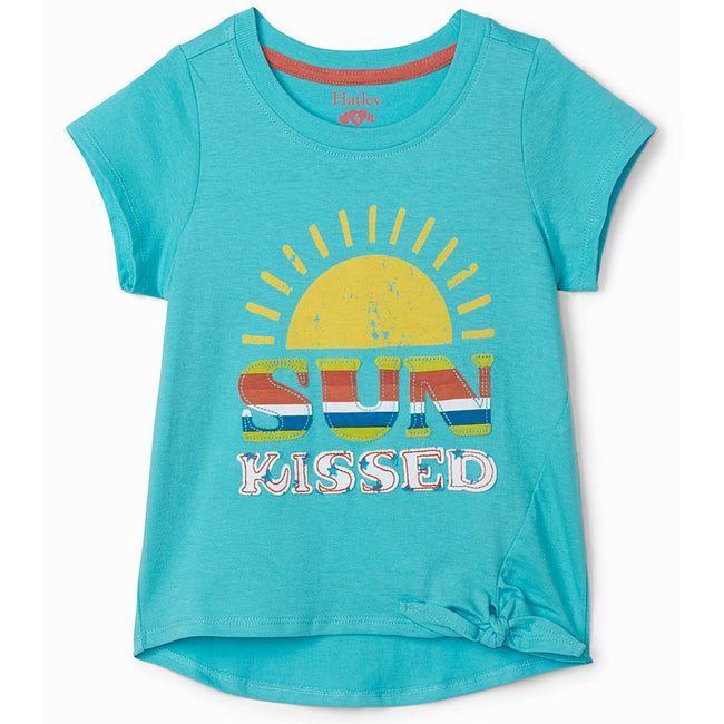 Hatley Little Girl Sun Kissed Blue Tee Front
