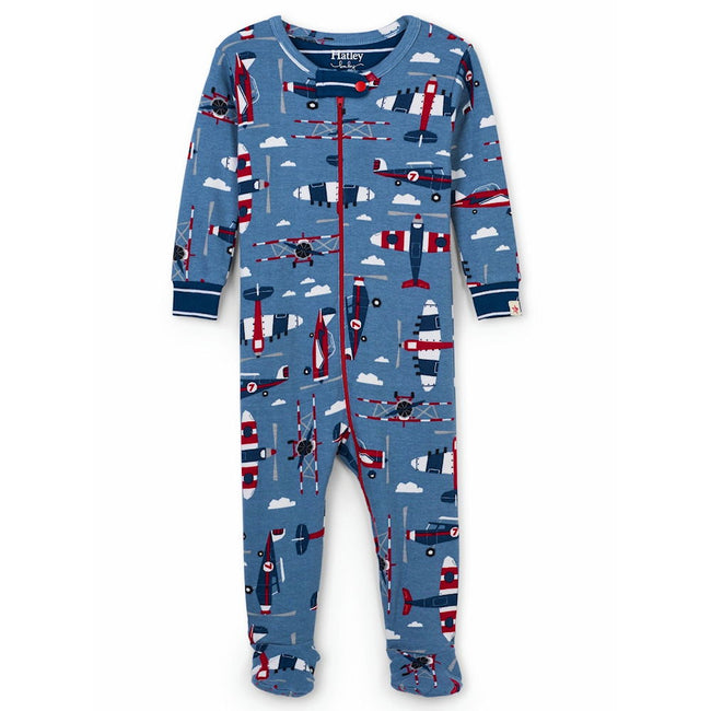 Hatley Kids Baby Boy Paper Planes Footed Sleeper