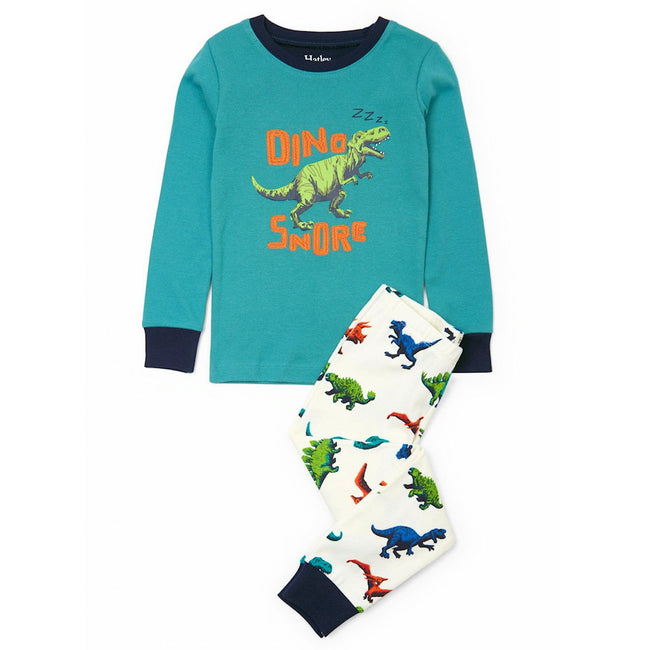 HATLEY Kids Little Boy Organic Cotton Dino Herd 2 Piece Pajama