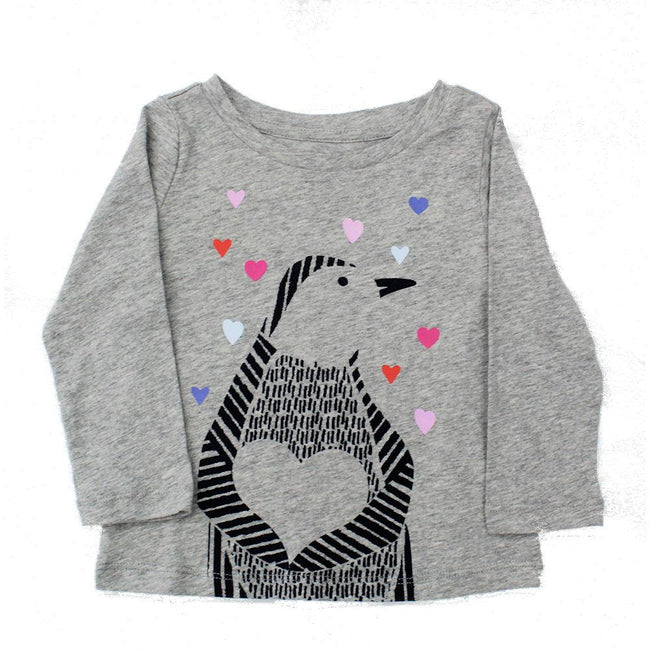 Baby Girl Long Sleeve Grey Tee