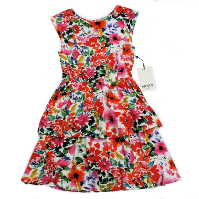 MEXX Girls Sleeveless Floral Ruffle Dress Front