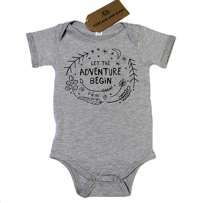 Portage and Main Canadian Made Baby Boy or Baby Girl Onsie