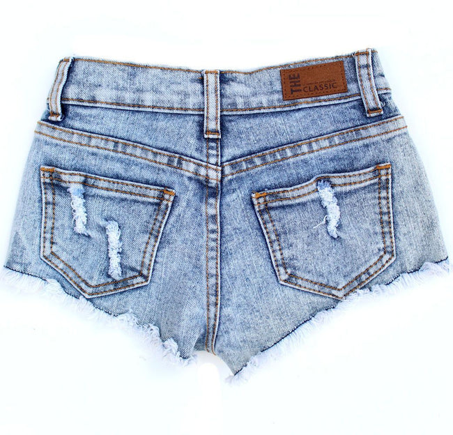 THE CLASSIC Little Girl Printed Denim Shorts