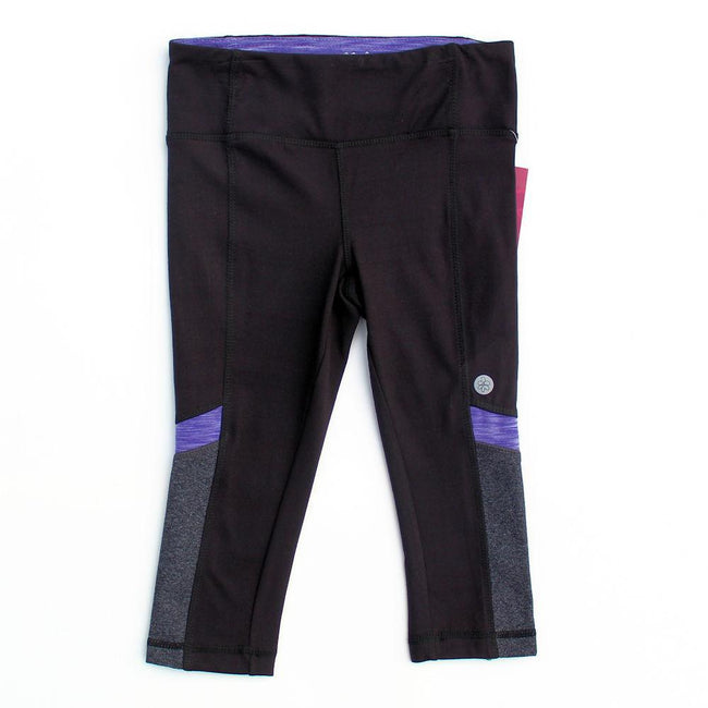 Little Girl Black/Purple Active Wear Leggings (Sz 6)