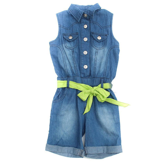 BLUBYBLU Little Girl Denim Short Romper (Sz 4)