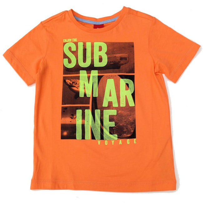 S. OLIVER Little Boy Orange Short Sleeve T-Shirt