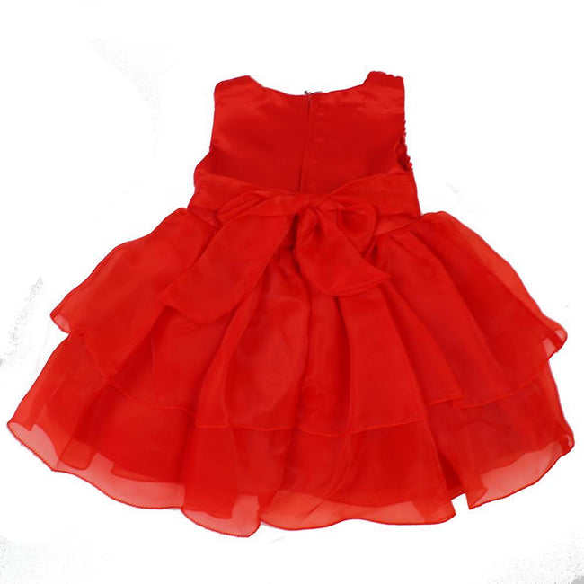 ZIGHI Baby Girl Special Occasion Red Dress Back