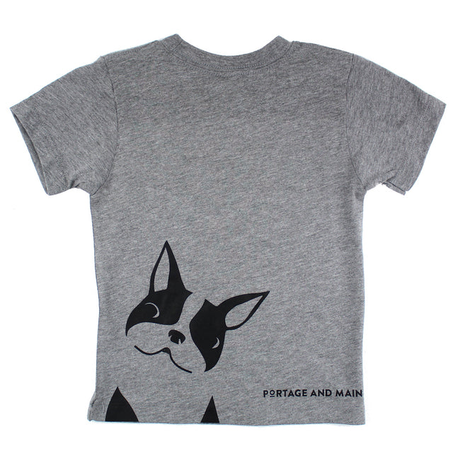 PORTAGE AND MAIN Little Boy Grey Short Sleeve Tee