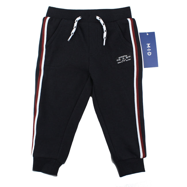 M-I-D Baby Boy Black Sweat Pant