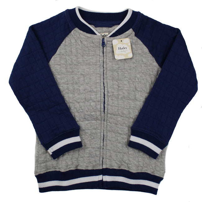 HATLEY Little Boy Quilted Bomber Jacket Front