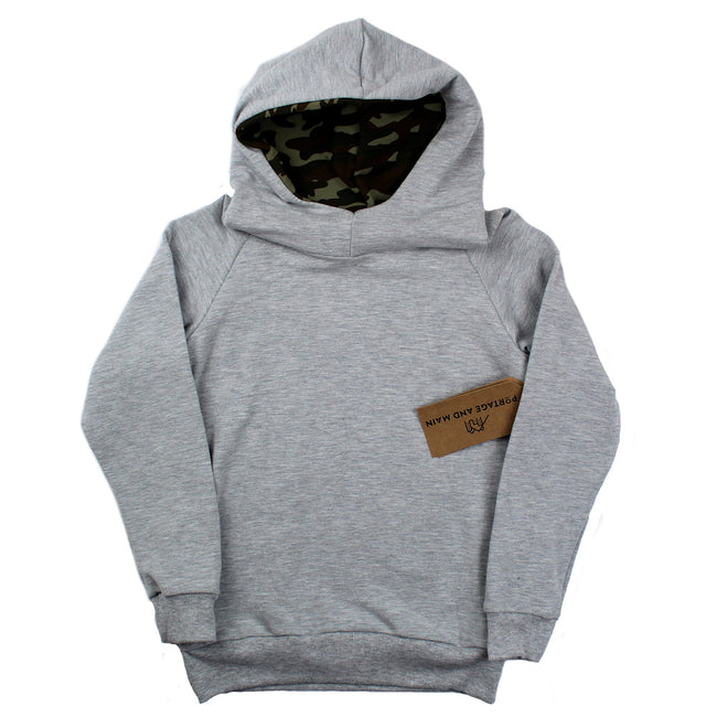 PORTAGE & MAIN Little Boy Bamboo Long Sleeve Hoodie