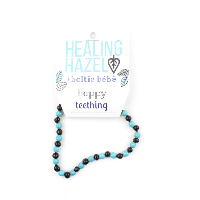 HEALING HAZEL  Balticamber Turquoise Necklace