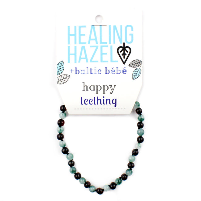 HEALING HAZEL  Balticamber Green Jasper Necklace
