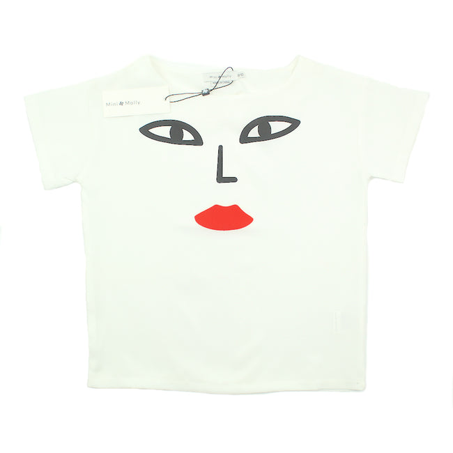 Mini Molly Girls Short Sleeve Face Top