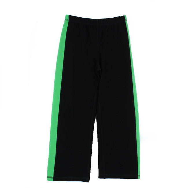 Little Boy Little Girl Active Wear Black/Green Bamboo Pants