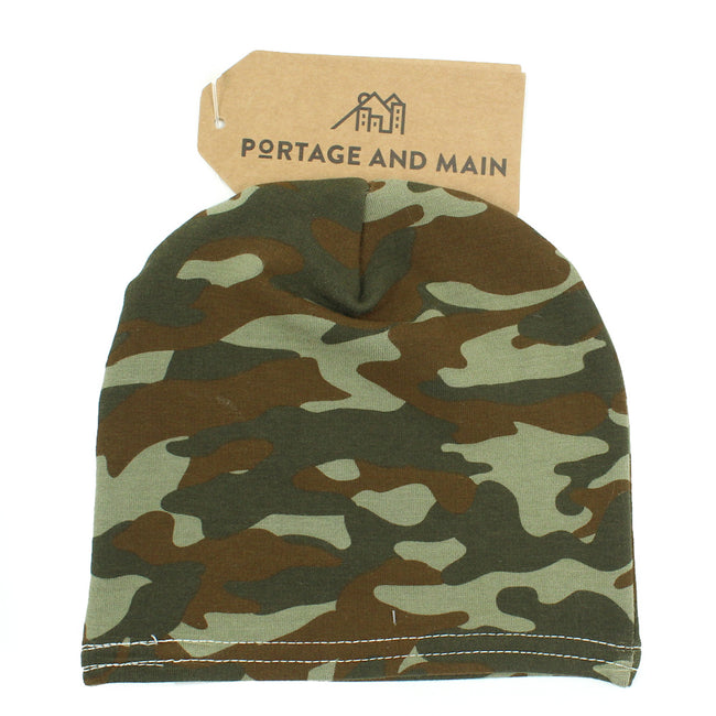 PORTAGE & MAIN Little and Baby Boy/Girl Bamboo Camo Beanie