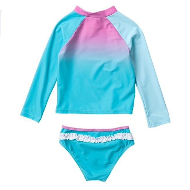 LIMEAPPLE Little Girl 2 Pc Long Sleeve Rashguard Set