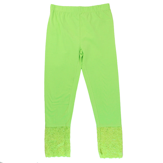 Blubyblu Big Capri Leggings Lime Lace
