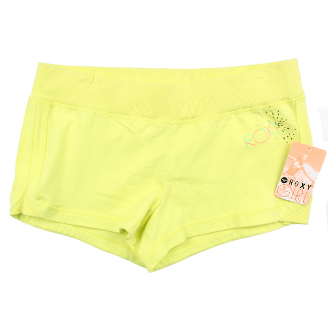 Roxy Girl Yellow Cotton Shorts