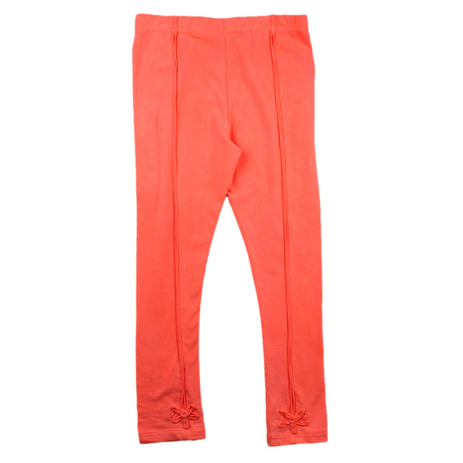 BLUBYBLU Big Girl Bright Orange Capri Leggings (Sz 14)