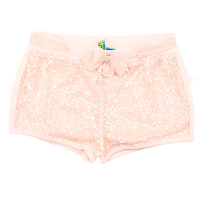 "BLUBYBLU Big Girl Sequin Coral ""Short"" Shorts"