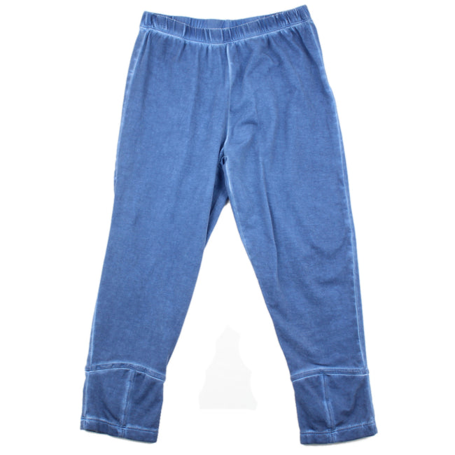 Blubyblu Big Girl Capri Leggings Blue Back Bow