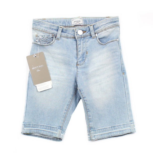 MAYORAL Big Girl Stretch Bermuda Shorts (Sz 8)