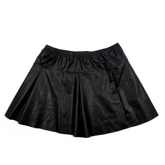 NICKY B. Big Girl bLACK Faux Leather Skirt (Sz 14)