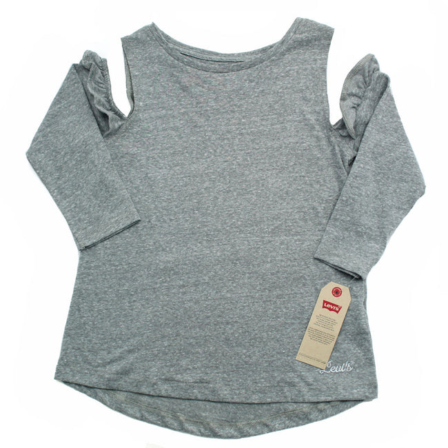 LEVI'S Little Girl Cold Shoulder Long SleeveTop
