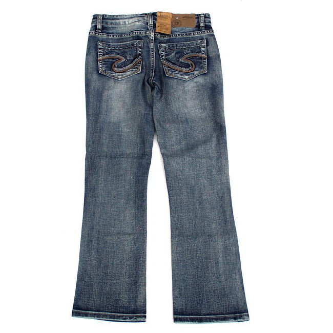 SILVER JEANS Kids Big Girl Tammy Boot Cut Jeans Back
