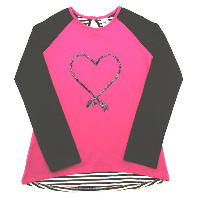 LIMEAPPLE Big Girl Long Sleeve Top