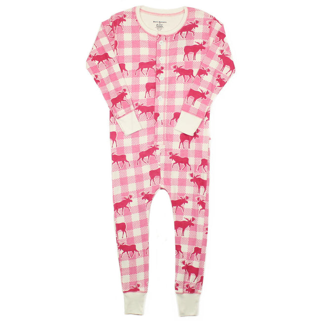 Crazy Bottoms Girls Moose Flap Onsie