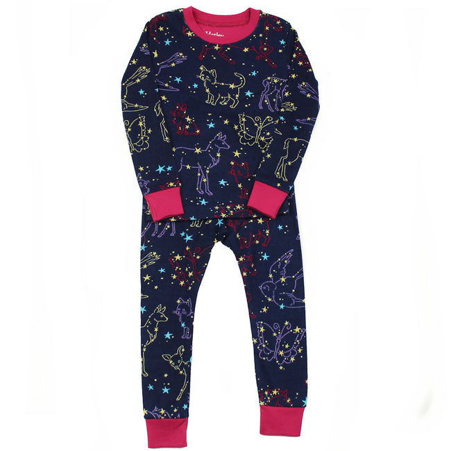 Hatley Girls Organic Cotton Pajamas Constellation