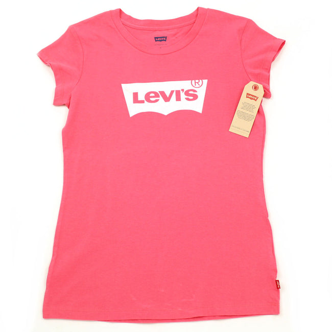 LEVI'S Big Girl Short Sleeve Pink Tee Shirt