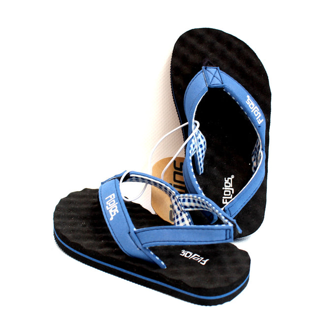 Flojos Kids Boys Flip Flops Black Blue