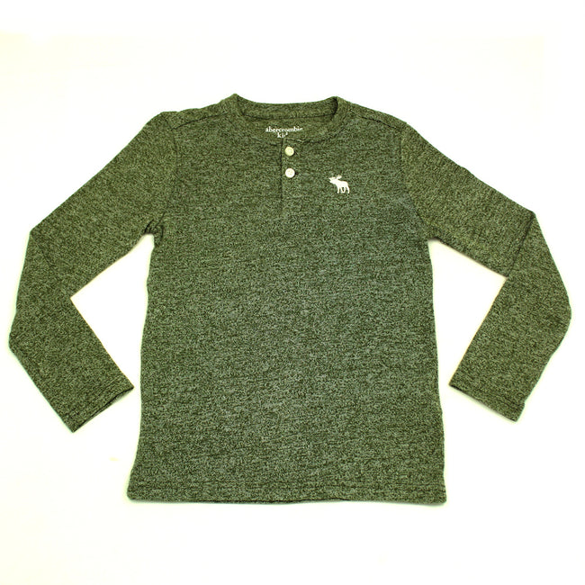 Abercrombie Kids Teen Boys Heather Green Long Sleeve Shirt