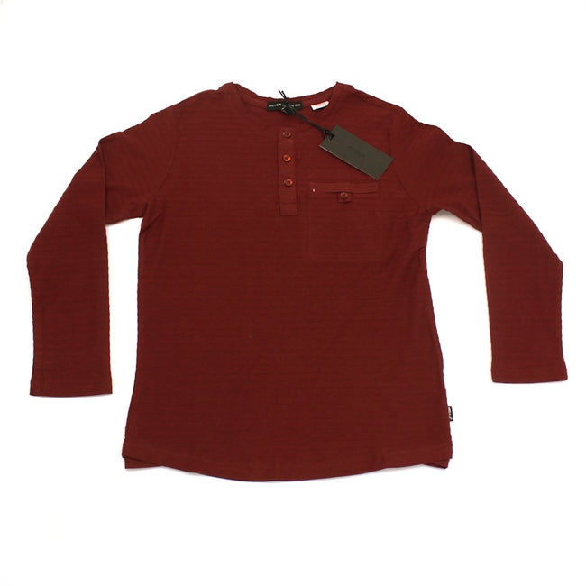 SILVER JEANS Kids Big Boy Long Sleeve Burgundy Top
