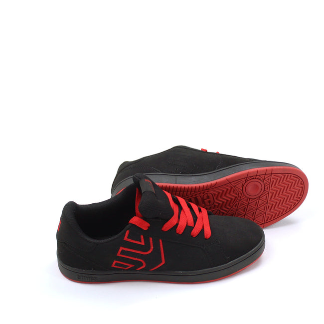 Etnies Boys Athletic Shoes Black Red