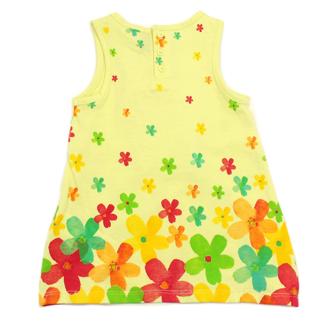 Losan Baby Girl Printed Flowers Yellow Dress