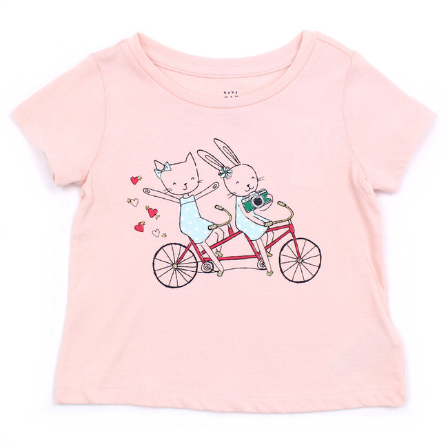 Baby Girl Short Sleeve Pink Top