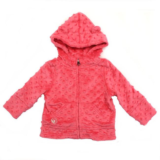Limeapple Baby Minky Jacket Coral