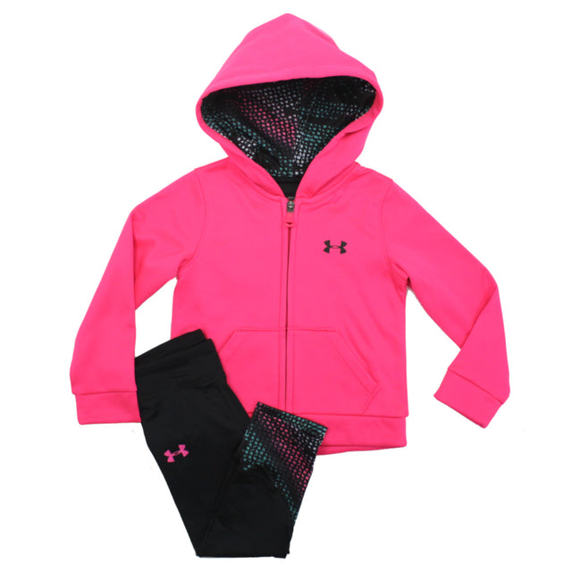 Under Armour Kids Little Girl Fleece Jacket and Leggings Pinkadelic