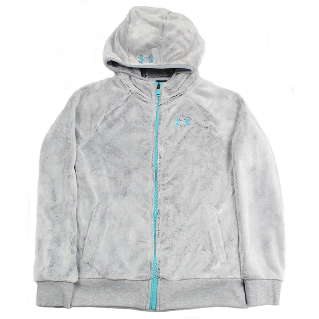Under Armour Kids Girls Grey Minky Heat Gear Jacket