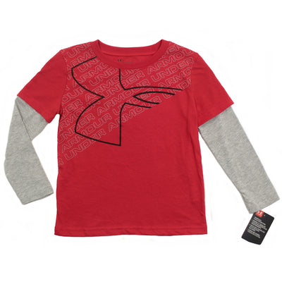 Under Armour Kids Little Boy Heat Gear Top Layer Look  Tee Shirt