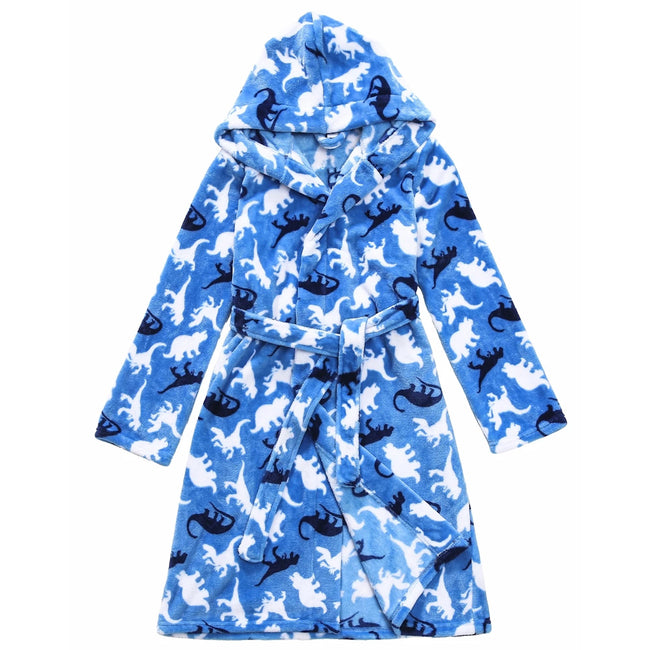 Slumber Party Kids Fleece Dino House Coat