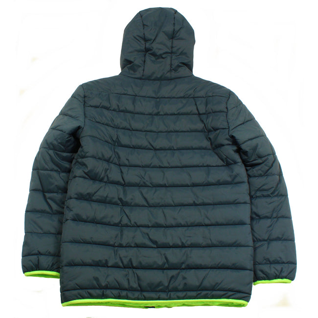 Under Armour Kids Youth Boys Winter Hooded Puffer Jacket Lime Green