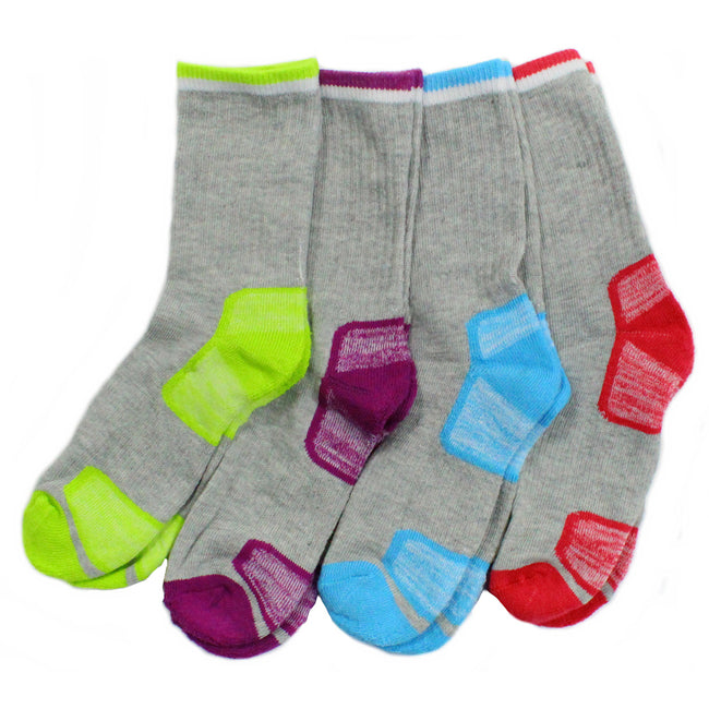 Gertex Densley Girls 4 Pack Athletic Crew Socks