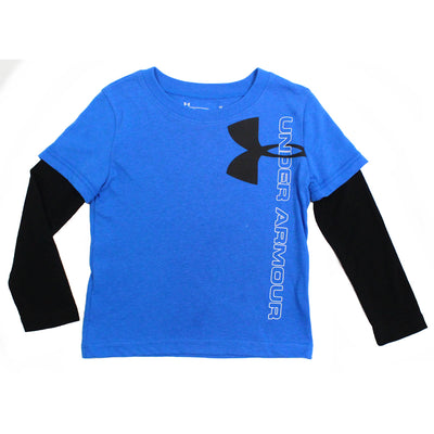 Under Armour Kids Little Boys Heat Gear Jersey Tee Layered Look